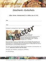 Gutschein Muster e-Shop
