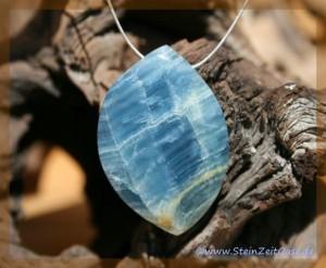 Aragonit-Calcit blau
