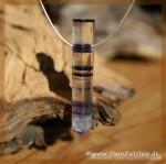 fluorit kristallstab violett farblos