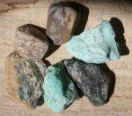 Wasserstein-Set Wassersteine Chrysopras Rohsteine Reinigung und Erneuerung