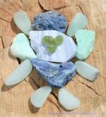 Wasserstein-Set Wassersteine Chrysopras Rohsteine Sich leicht fühlen