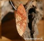 Versteinertes Holz Schmuckstein gebohrt