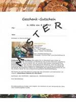 Gutschein SteinZeitOase Muster