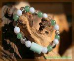 Armband mit Aventurin grün - Design SteinZeitOase