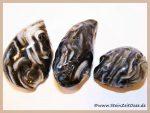 Achat-Geoden schwarz-weiß Trommelsteine