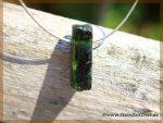 Diopsid grün Kristallstab gebohrt