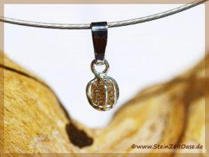 Diamant Rohkristall - Silberfassung - Silberöse -