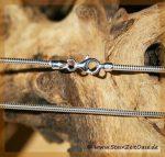 Silberschlangenkette für gebohrte Steine