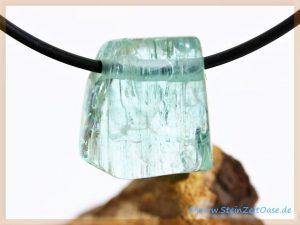 Aquamarin Kristallstab-Schmuckstein gebohrt