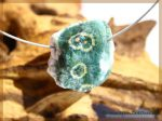 Ozeanachat / Ozeanjaspis / Ozeanchalcedon Rohstein gebohrt