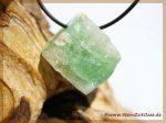 Apophyllit grün Kristall gebohrt