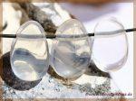 Girasol-Quarz Trommelstein gebohrt
