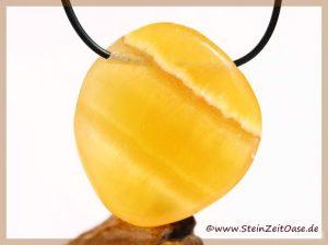 Calcit orange (Orangencalcit) XXL Scheibenstein gebohrt