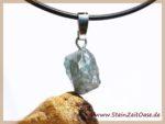 Zirkon blau Kristall an Silberöse - Rarität -