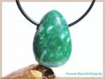 Jade grün (Jadeit) Trommelstein gebohrt aus China