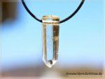 Citrin Kristallstab-Schmuckstein gebohrt