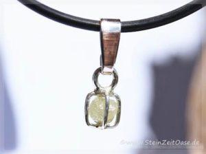 Diamant Silberöse Anhänger Kristall Rohstein gefasst